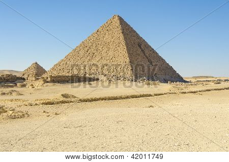 Pyramid of Menkaure at Giza, Egypt