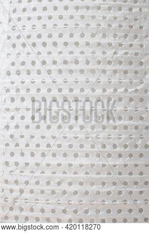 Close-up On Paper Perforated Lampshade As Background