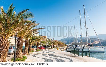 Argostoli, Kefalonia, Greece. Promenade Of Argostoli Town, Kefalonia Island, Greece.