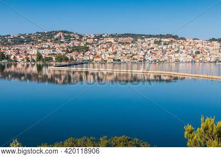 Argostoli, Kefalonia, Greece. View Of Argostoli Town, Kefalonia Island, Ionian Sea, Greece.