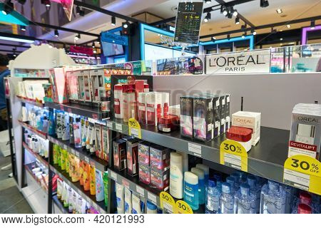 KUALA LUMPUR, MALAYSIA - CIRCA JANUARY, 2020: goods on display in PLAY UP at Fahrenheit 88 shopping center in Kuala Lumpur.