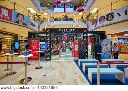 KUALA LUMPUR, MALAYSIA - CIRCA JANUARY, 2020: PLAY UP at Fahrenheit 88 shopping center in Kuala Lumpur.