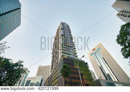 KUALA LUMPUR, MALAYSIA - CIRCA JANUARY, 2020: view of Kuala Lumpur in the daytime.