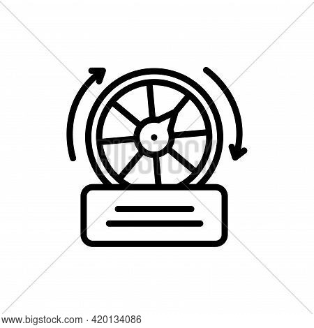 Free Spins Line Icon. Isolated Vector Element.