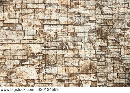 White Stone Wall With Irregular Masonry, Texture, Light Background