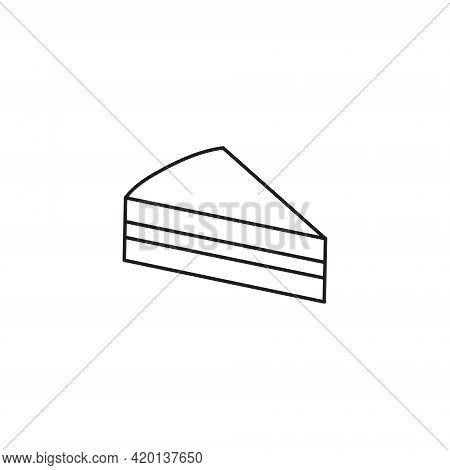 Piece Of Cake Cute Simple Vector Icon Drawing