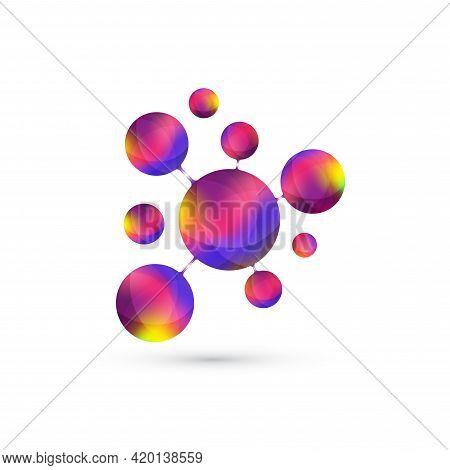 Logotype Icon Dna, Molecule, Atom, Gene, Neural, Neuron. Template Logo For Medicine, Science, Techno