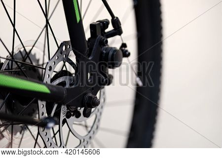 Bicycle Spokes Close-up. Close Up Of An Bicycle Wheel.