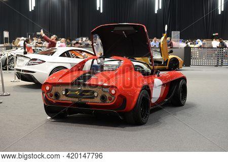 Dubai, Uae - November 16: The Jannarelly Design-1 Sportscar Is On Dubai Motor Show 2019 On November
