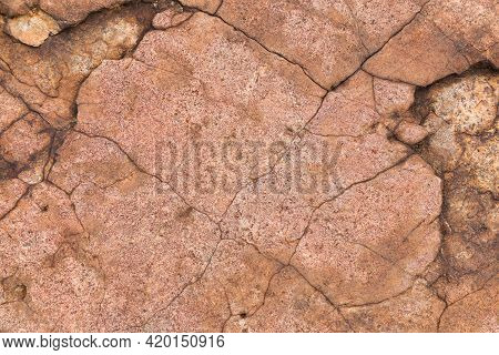 Fractured Rough Natural Granite Rock Face, South Africa