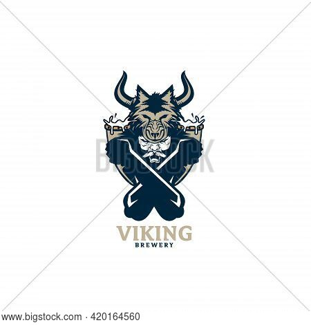 Viking Brewery Vector Illustration For Beer And Brewery Business Theme