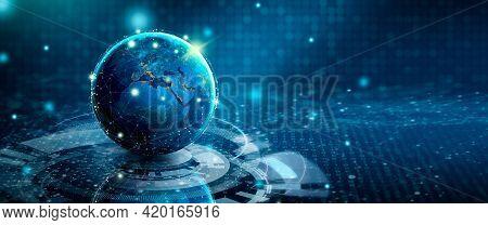 Future Of Technology. Digital Convergence, Technological Convergence, And Media Convergence. Global