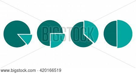 Green Circle Sector. Circle Pie Chart. Business Presentation, Diagram, Graph. Stock Image. Vector Il