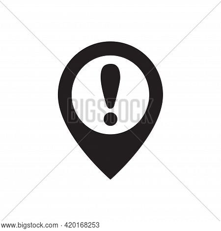 Exclamation Pinpoint Vector Icon Attention Logo Warning For Graphic Design, Logo, Web Site, Social M