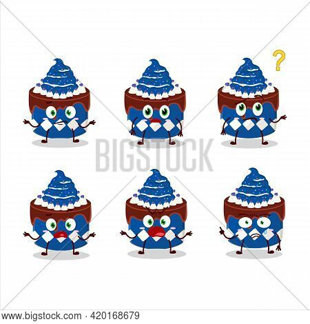 Cartoon Character Of Sweety Cake Blueberry With What Expression