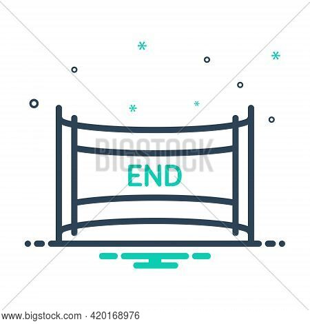 Mix Icon For End Ending Conclusion Finish Closing Cessation