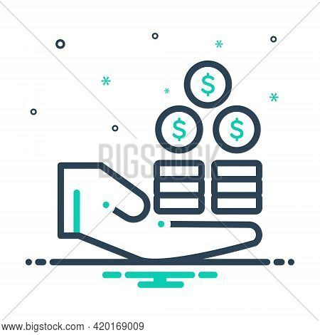 Mix Icon For Profit Benefit Advantage Gain Mileage Avail Opportunity