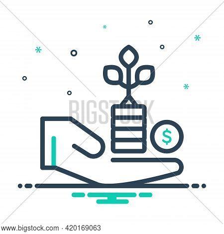 Mix Icon For Benefit Advantage Profit Gain Mileage Avail Opportunity
