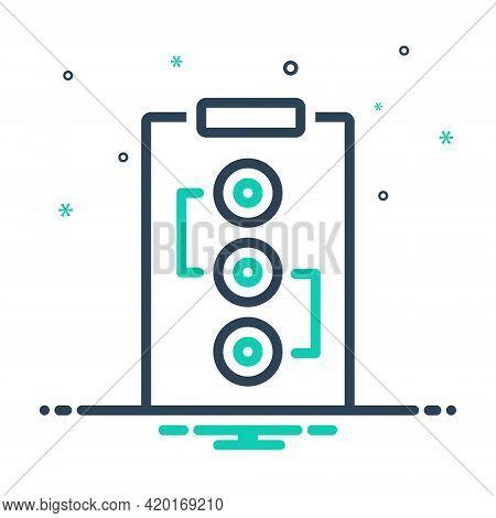Mix Icon For Plan Scheme Project Program Idea Design