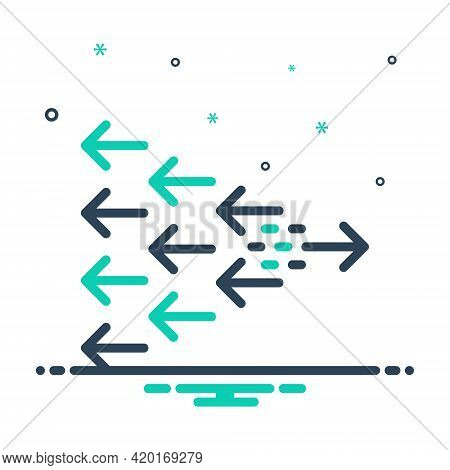 Mix Icon For Change Transformation Variation Alteration Shift Reverse Direction