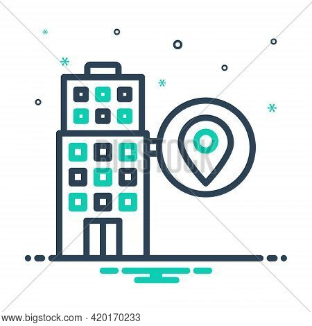 Mix Icon For Local  Maps Localization Gps Building Place
