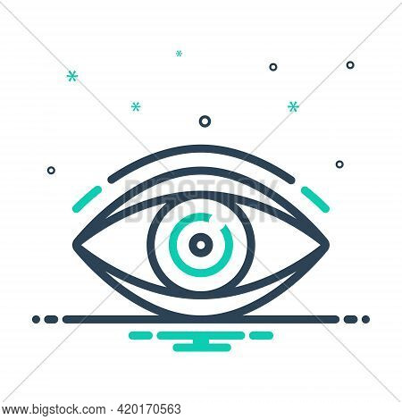 Mix Icon For Vision See View  Look Sight Watch Eyesight Dristi Peep