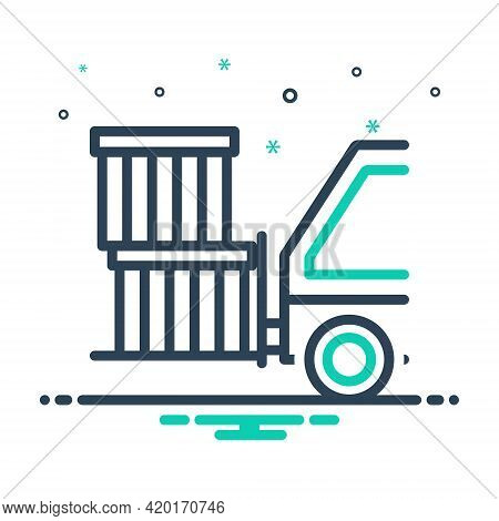 Mix Icon For Goods Cargo Wares Stock Commodities