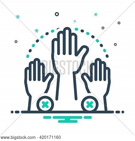 Mix Icon For Absenteeism Absent Missing Hand