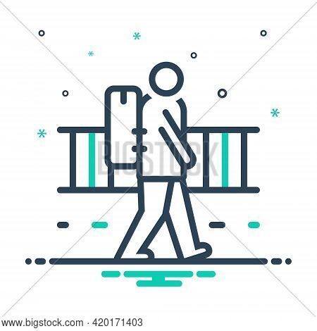 Mix Icon For Vagrant Strolling Rangy Nomad Migratory Emigrant