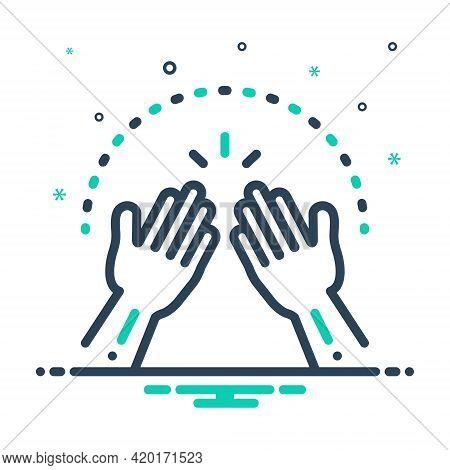Mix Icon For Amen Hands Pray  Implore Appeal Cassation Petition