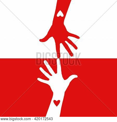 Blood Donor Hands With Heart. Medical Help Logo.donate Blood Concept. World Blood Donor Day Wallpape