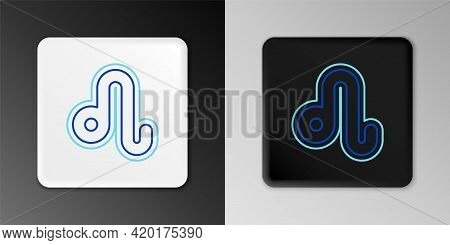 Line Leo Zodiac Sign Icon Isolated On Grey Background. Astrological Horoscope Collection. Colorful O
