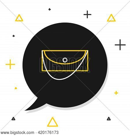 Line Clutch Bag Icon Isolated On White Background. Women Clutch Purse. Colorful Outline Concept. Vec
