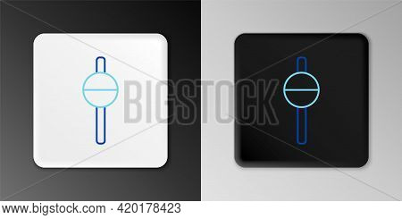 Line Fishing Float Icon Isolated On Grey Background. Fishing Tackle. Colorful Outline Concept. Vecto