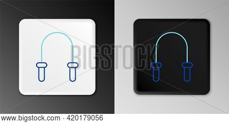 Line Jump Rope Icon Isolated On Grey Background. Skipping Rope. Sport Equipment. Colorful Outline Co