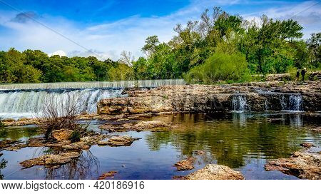 Waterfalls On A Summer Day In The Midwest