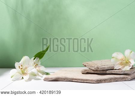 Background For Cosmetic Products Of Natural Colors.