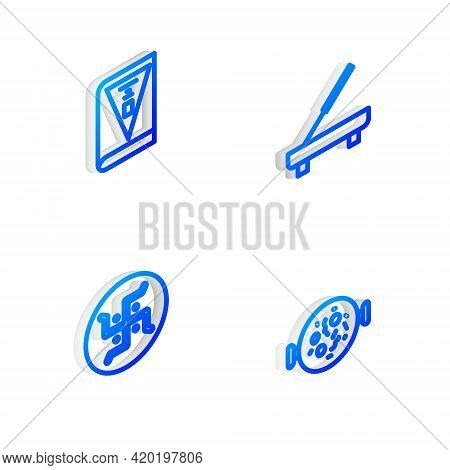 Set Isometric Line Scented Spa Stick, India Constitution Day, Hindu Swastika And Chicken Tikka Masal