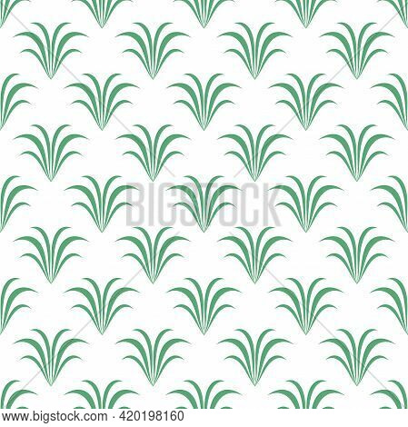 Seamless Floral Pattern With Fern Leaves. Floral Texture On White Background. Elegant Bush Branches