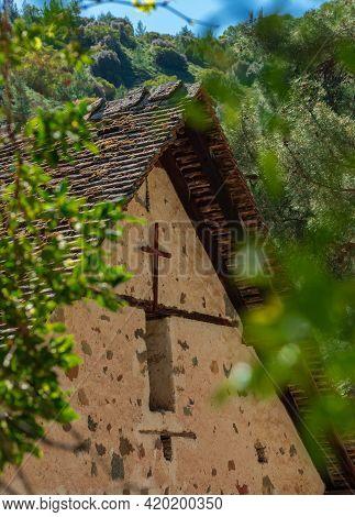 Byzantine Church Of Agios Nikolaos Tis Stegis St. Nicholas Of The Roof In Kakopetria Village.