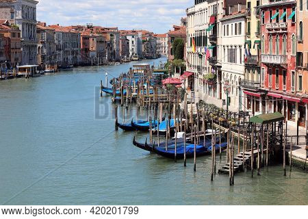 Canal Grande In Venice Without Boat During Lockdown Caused By Corona Virus In Italy