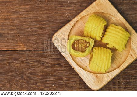 Malaysian Traditional Cookies Called As Pineapple Tarts Or Tart Nenas Served During Eid Fitri.