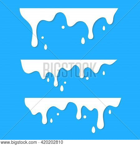 Dripping Milk Flows Down. Dripping Liquid. Fluid Fluid. Spilling Paint. Falling Paint. Fluid Oil Sta