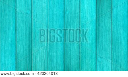 Blue Color Vintage Wooden Vertical Striped Line Abstract Background