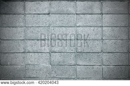 The Lighter Grey Color Of Rough Texture Concrete Wall Skin With Grid Line Pattern On Cement Plaster