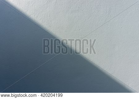 Black Shadow And Shade On Gray Color Rough Concrete Wall Abstract  Background