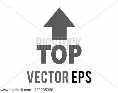The Isolated Vector Word Top With An Arrow Icon Pointing Up Above It