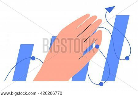 Economics Strategy, Analysis Of Sales, Statistic, Data Stat Arrow Illustration For Banner, Landing W