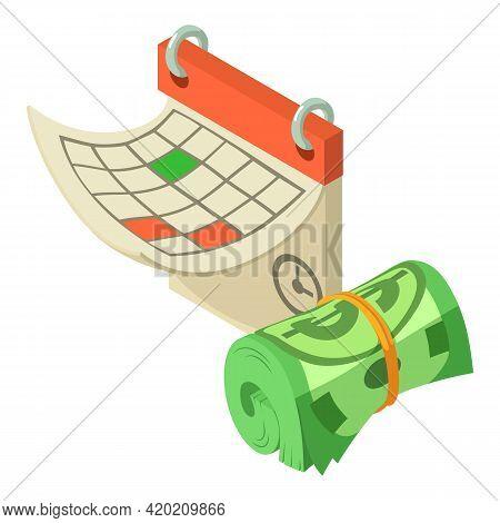 Finance Calendar Icon. Isometric Illustration Of Finance Calendar Vector Icon For Web