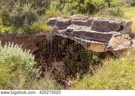 The Cave Near The Excavations Of The Ancient Burial Caves Of The Sidonian Near The Maresha City In B